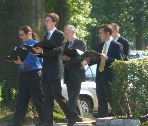 Schola procession on Corpus Christi